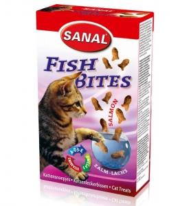 Sanal Хапки с риба за котки - Fish Bites кутия