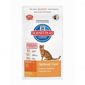 Hill's - Science Plan™ Feline Adult Optimal Care™ Chicken - суха храна за котки от 1 до 7 годишна възраст, пилешко, 2 кг.