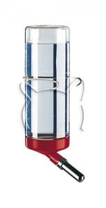 Ferplast Drinky 600 l183 - кръгла поилка с метално захващане / синя, червена, бяла / 9 / 6,5 / 24,5 cm - 0,6 L 1