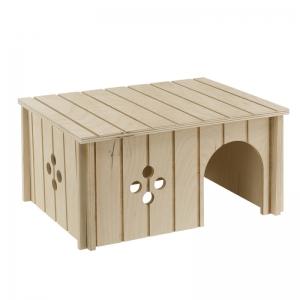 Ferplast sin4645 - дървена къщичка за малки животни 26 / 17.3 / 13 см 1