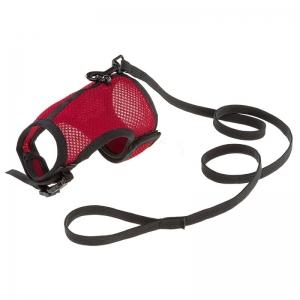 Ferplast Jogging L - повод за малки животни с обиколка на врата 20-24 см.,и обиколка на гърдите 26-34 см Червен 1