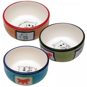 Ferplast Hamster bowl pa1088- керамична купичка за малки животни/оранжева,зелена,синя/ Ø 10.2 / 3.7 cm - 0.18 L