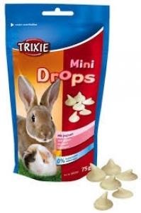 Trixie Mini Drops - Вкусно лакомство Йогурт за малки животни 75 гр.