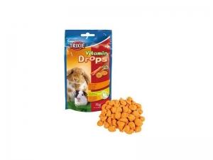 Trixie Vitamin Drops with Carrots - Вкусно лакомство за малки животни с витамини и моркови 75 гр.