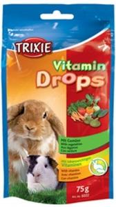Trixie Vitamin Drops with Vegetables - Вкусно лакомство за малки животни с витамини и зеленчуци 75 гр.