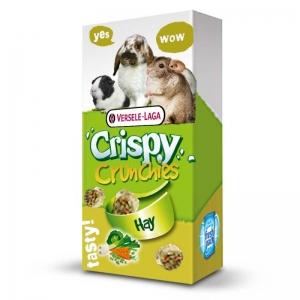Versele-Laga - Crispy Crunchies Hay - Деликатесно лакомство с билки и сено, за морски свинчета, мини зайчета и чинчили - опаковка 75 гр.