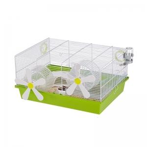 Ferplast Cage Milos Medium Flowers - клетка за хамстери с пълно оборудване 50 / 35 / 25 см