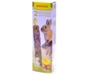 Benelux Крекери за гризачи 2 бр. в кутия XXL размер Ядки и банани