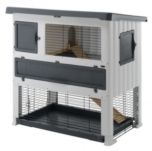 Ferplast - GRAND LODGE 140 PLUS GREY Клетка за зайци - размер 134 x 73 x 117 см