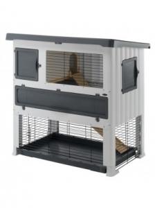 Ferplast - GRAND LODGE 120 PLUS GREY Клетка за зайци - размер 115,5 x 73 x 117 см