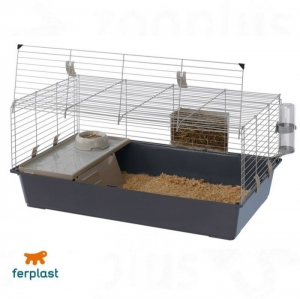 Ferplast - CAGE RABBIT 120 Клетка за зайци - размер 118 х 58,5 х 51,5 см