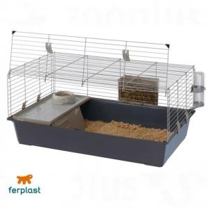 Ferplast - CAGE RABBIT 100 Клетка за зайци - размер 95 х 57 х 46 см