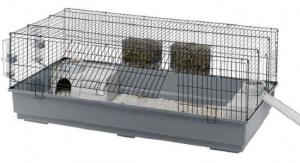 Ferplast - CAGE RABBIT 140 BLACK Клетка за зайци - размер 140 х 71 х 51 см