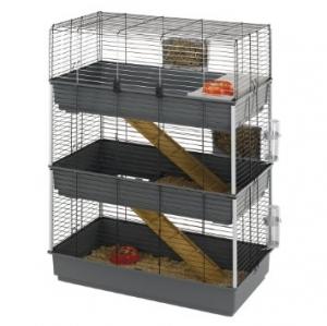 Ferplast - CAGE Rabbit 100 Tris Клетка за зайци - размер 98 x 50 x 113,5см