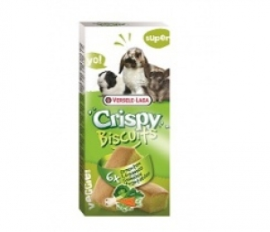 Versele-Laga - Crispy Biscuit Small Animals Vegetables Снакс за чинчили - опаковка 70 г (6 бр.)