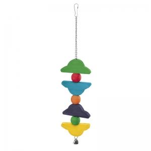 Ferplast Parrot Toy pa4096 - дървена играчка за папагали 9,2 / 2,5 / 47 cm