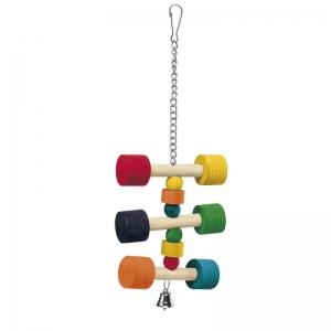 Ferplast Parrot Toy pa4091 - дървена играчка за папагали 11,5 / 11,5 / 31 cm