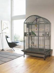 Savic Carumba Bow Клетка с пълно оборудване за големи папагали 1