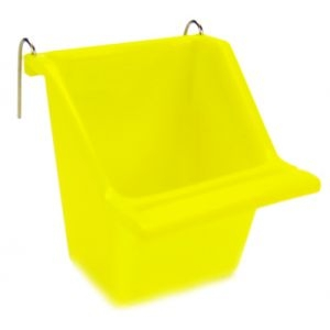 Hagen Living World Пластмасова Хранилка за птици, Жълта - Seed Cup - Medium 112 g, 130 ml 1