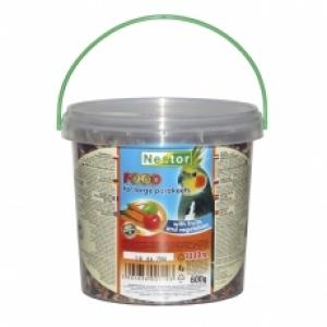 Nestor Храна за средни папагали с плодове и зеленчуци - 1000 мл.