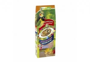 Nestor Храна за средни папагали с плодове и ядки - 700 мл.