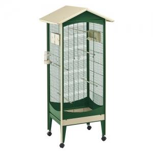 Ferplast - BRIO MINI GREEN Клетка за птици - размер 60, 5 x 73, 5 x 160 см