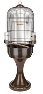 Ferplast - CAGE MAX 6 BLACK + STAND - Клетка за птици - размер Ø 53 x H 160 см