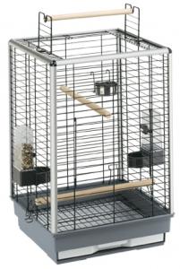 Ferplast - CAGE MAX 4 BLACK - Клетка за птици - размер 50 х 50 х 75 см