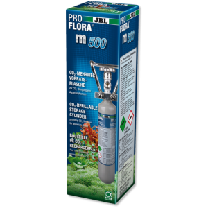 JBL ProFlora m500 silver /CO2 bottle/ - Професионална бутилка за многократна употреба за СО2 1