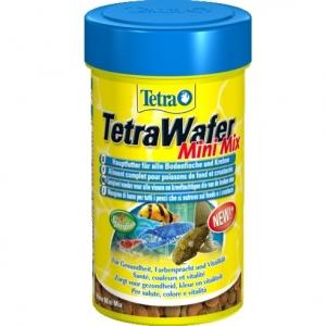 Tetra TetraWafer Mini Mix Храна за рибки и ракообразни, хранещи се в долните слоеве на водата 100 мл. 1