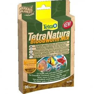 Tetra TetraNatura Храна за тропически рибки с червени червеи 80 гр.