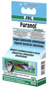 JBL Furanol Plus 250 Oсновно средство срещу външни и вътрешни бактериални инфекции при рибите - 20бр. таблетки
