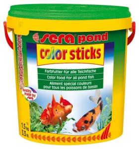 Sera Color Sticks Храна за подобряване оцветяването на всички златни и студеноводни риби