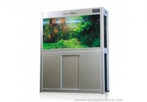 AquaZooLux Аквариум с шкаф HLH-1000E - 180L, Черен