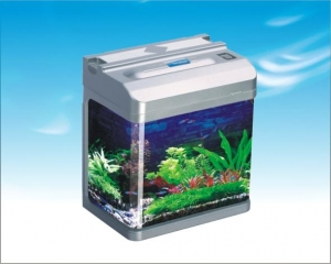 AquaZooLux Аквариум HR-420B - 33L, Сребрист