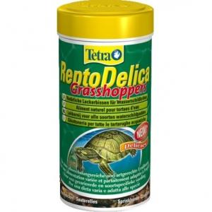 Tetra ReptoDelica Grasshopper Лакомство за костенурки със скакалци 250 мл.