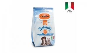 Camon Salviette with Bergamot fragrance - почистващи кърпички за кучета и котки с аромат на бергамот, 100 броя