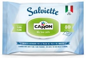 """Camon Cleaning wipes """"Ylang-Ylang"""" - мокри кърпички за кучета и котки с иланг иланг, 40 броя"""