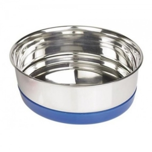 Nobby Ringi Метална купичка с пластмасов ринг / синя - 17 см. / 850 мл.