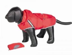Nobby Rainy Дъждобран за кучета с дължина на гърба - 48 см. / червен, черен 1