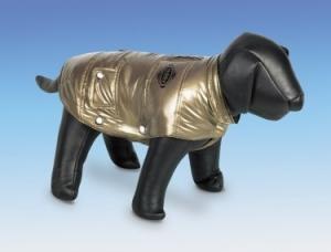 Nobby Olivia Blue Ветро и водозащитно яке с топла подплата за кучета с дължина на гърба 29 см. - злато