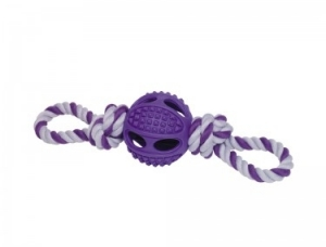 Nobby Rubber ball with rope Топка с въже - 6.5 см.