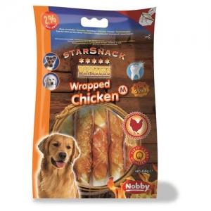 Nobby StarSnack Barbecue Wrаpped Chicken Деликатесно лакомство с пилешко месо за кучета - 70 гр.
