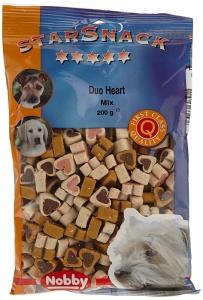Nobby StarSnack Duo Heart Mix Деликатесно лакомство с пилешко, агнешко, дивеч и шкембе - 200 гр.