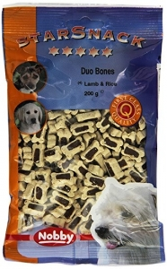 Nobby StarSnack Duo Bones Lamb & Rice Деликатесно лакомство с агнешко месо - 200 гр.