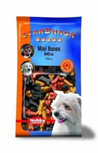 Nobby StarSnack Mini Bones Mix Деликатесно лакомство микс три вида месо 200 гр.