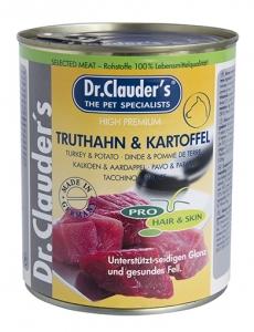 Dr.Clauder Pro Hair Skin Truthahn Kartoffel - консервирана храна за кучета с проблемна кожа и козина, 800 гр.