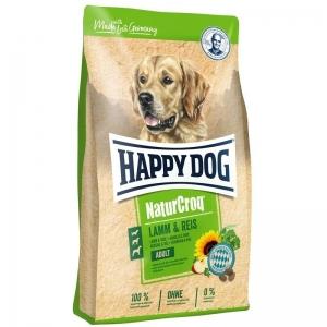 Happy Dog NaturCroq Lamm & Reis - суха храна с агнешко месо, за кучета с чувствителен стомах и кожа, подходяща за всички породи над 12 месеца, 4 кг.