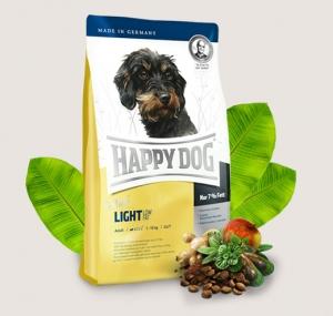 Happy Dog Adult Mini Light - суха храна с агнешко и пилешко месо, новозеландски миди и L карнитин, за кучета с наднормено тегло и кастрирани кучета малки породи над 10 месеца, 4 кг.