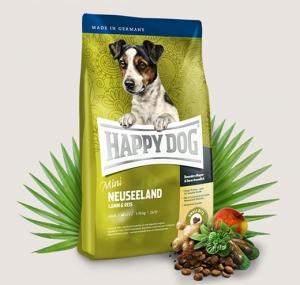 Happy Dog Supreme Mini Neuseeland - суха храна агнешко,екстракт от зеленоуста мида,билки, за кучета над 12 месеца, за мини и малки породи до 10 кг., 4 кг.